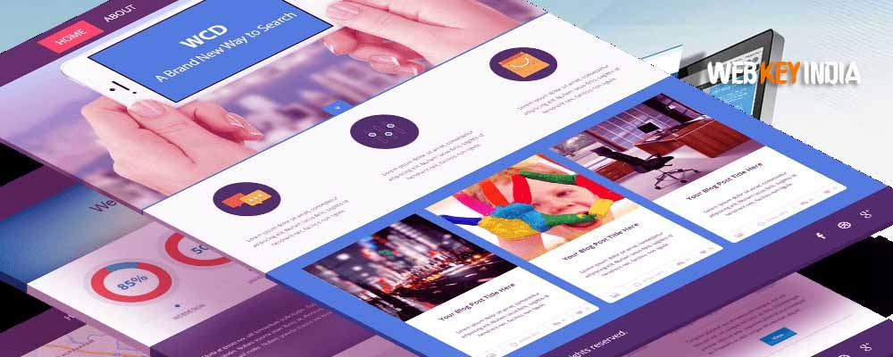 landing page single page website design company in delhi india